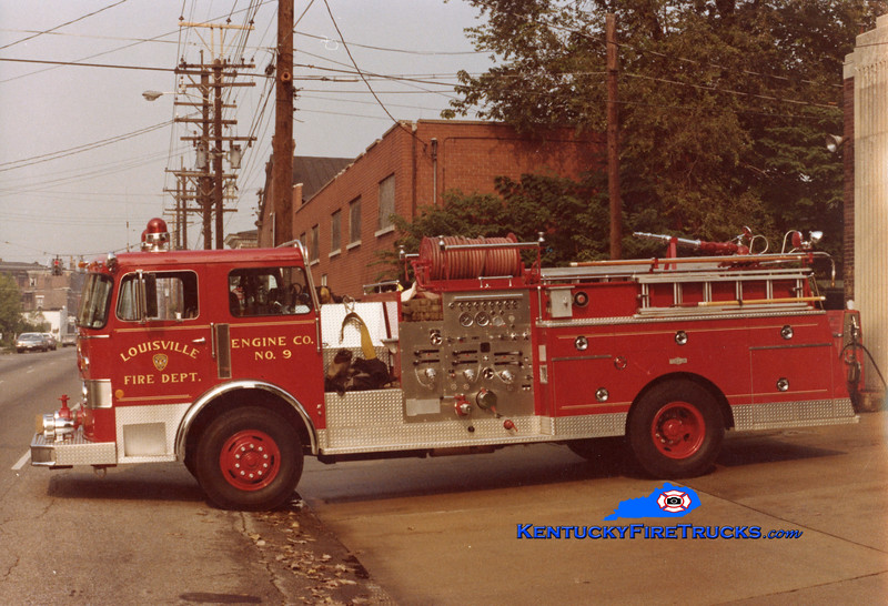 RETIRED <br /> Louisville Engine 9 <br /> 1979 Pirsch 1500/300 <br /> Kent Parrish collection