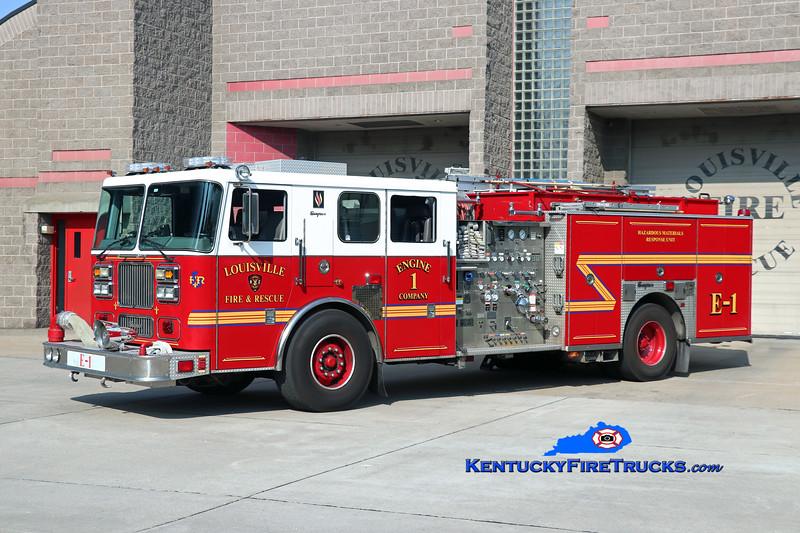Louisville Engine 1<br /> 2002 Seagrave Marauder II 2000/500/25/200<br /> Kent Parrish photo