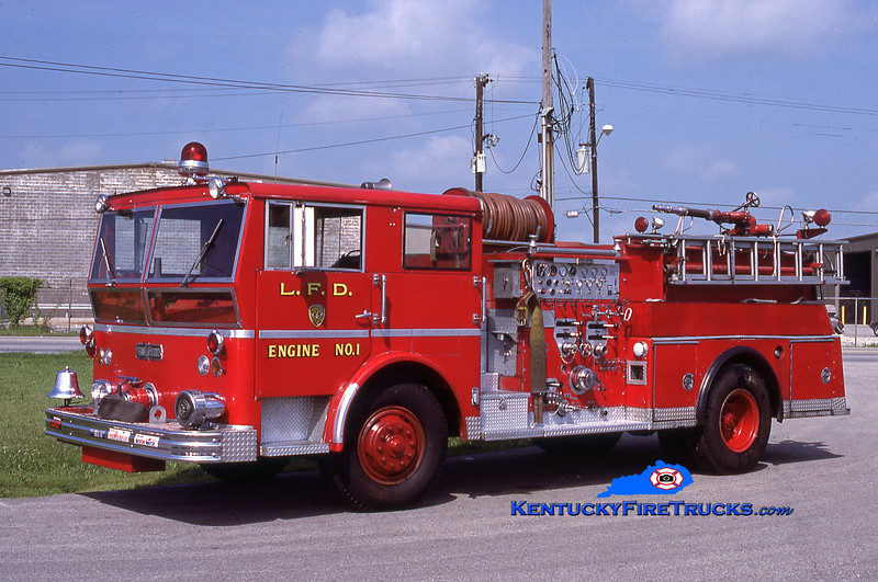 RETIRED <br /> Louisville Engine 1 <br /> 1967 Ward LaFrance 1250/500/55 <br /> Kent Parrish collection