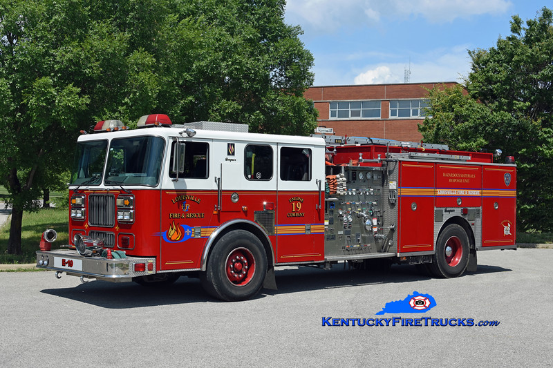 Louisville Engine 19<br /> 2002 Seagrave Marauder 2000/500/25A/200B/Hazmat<br /> Kent Parrish photo