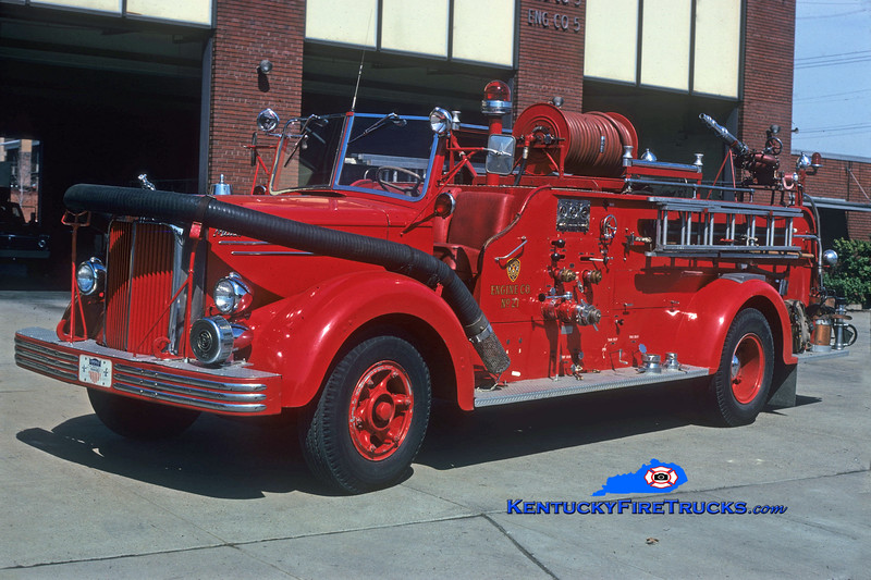 <center> RETIRED <br> Louisville  Engine 21 <br> 1951 Mack LS 750/250 <br> Greg Stapleton collection  </center>