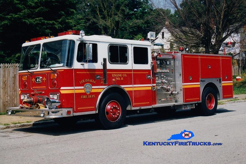 <center> Auxiliary Engine 115 <br> Louisville  Engine 11 <br> 1991 Seagrave JB 1500/500 <br> Greg Stapleton photo <br> </center>