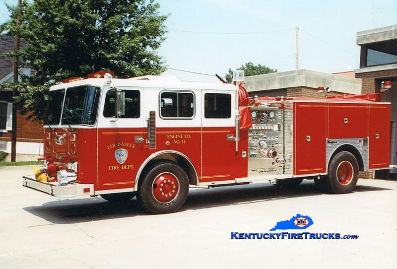 Auxiliary Engine 115 <br /> Louisville Engine 11 <br /> 1991 Seagrave JB 1500/500 <br /> Greg Stapleton photo