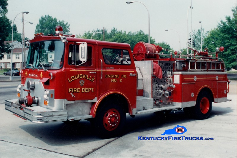 RETIRED <br /> Louisville Engine 2 <br /> 1976 Mack CF 1500/300 <br /> Greg Stapleton photo