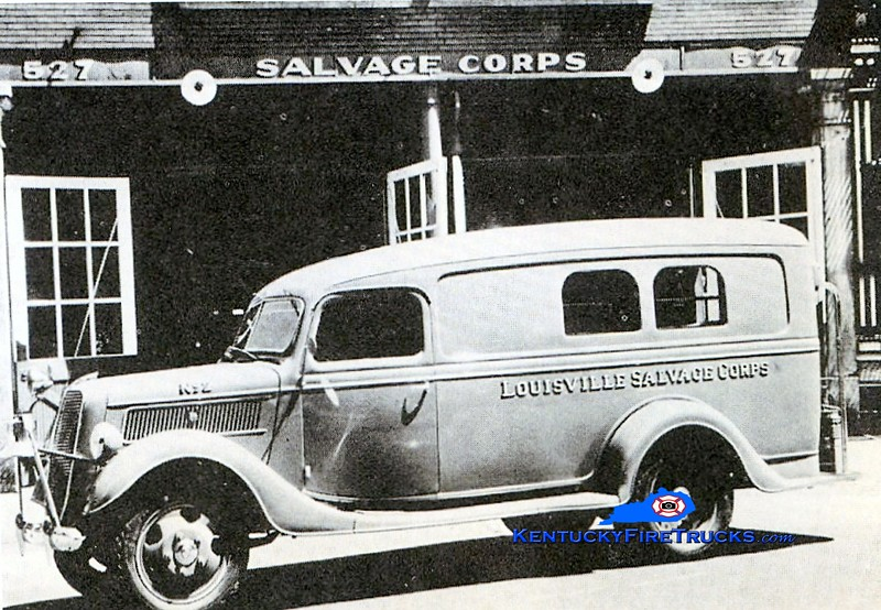 Louisville Salvage Corps<br /> 1938 Ford<br /> Kent Parrish collection