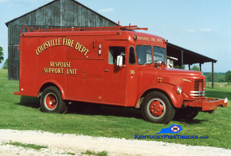 RETIRED <br /> Louisville Car 36<br /> x-Civil Defense  <br /> 1953 Reo/Swift <br /> Kent Parrish collection