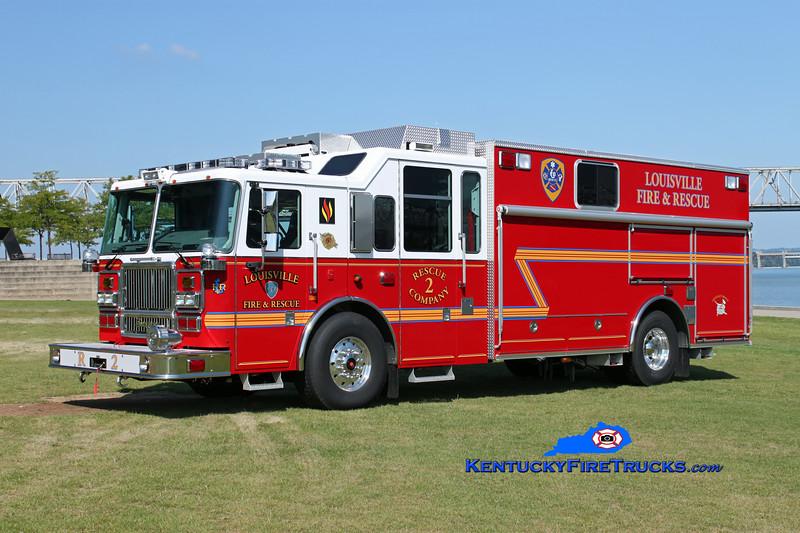 <center> Louisville  Rescue 2 <br> 2012 Seagrave Attacker HD <br> Kent Parrish photo </center>