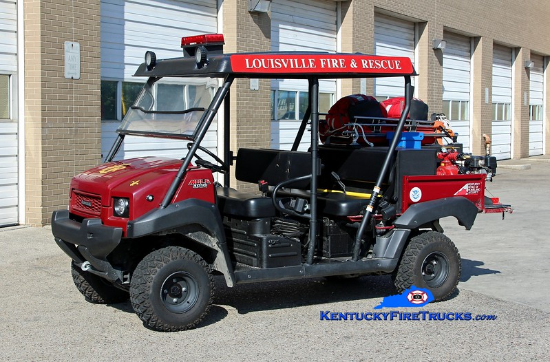 Louisville Utility 23<br /> 1 of 3 units <br /> 2011 Kawasaki Mule/CET 150/50<br /> Kent Parrish photo