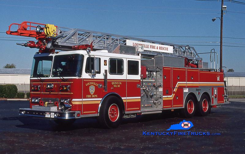 Auxiliary Quint 102<br /> Louisville Quint 10 <br /> 1994 Seagrave JP 1500/400/100' <br /> Kent Parrish photo