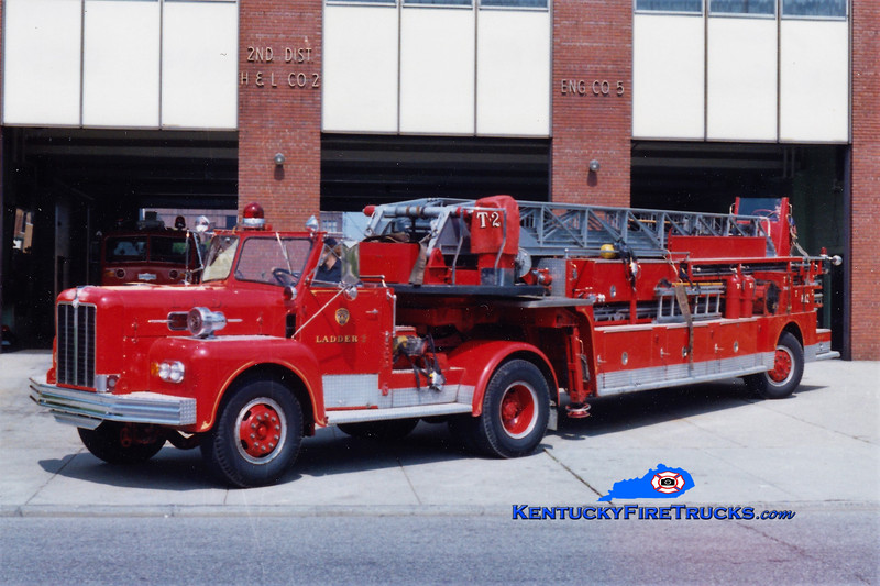 RETIRED<br /> Louisville  Truck 2<br /> x-Truck 3 <br /> 1963 Maxim 100' TDA<br /> Greg Stapleton collection
