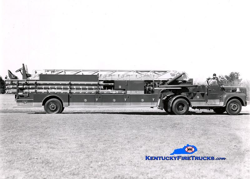 <center> RETIRED <br> Louisville  Truck 3 <br> 1963 Maxim 100' <br> Kent Parrish collection </center>