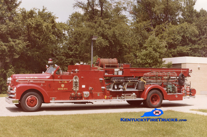 RETIRED <br /> Louisville Quad 5 <br /> 1954 Seagrave 750/100 <br /> Kent Parrish collection