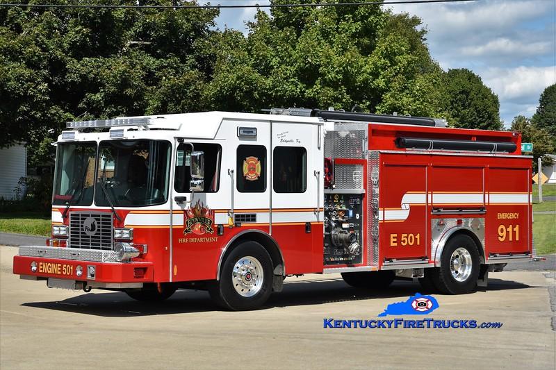 Eddyville  Engine 501<br /> 2017 HME/Ferrara Intruder 2 1250/1000/20<br /> Greg Stapleton photo