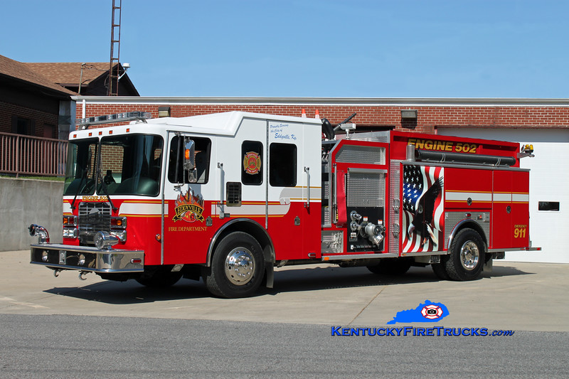 <center> Eddyville  Engine 502 <br> 2006 HME/Ferrara Intruder 2 1250/1000 <br> Kent Parrish photo </center>