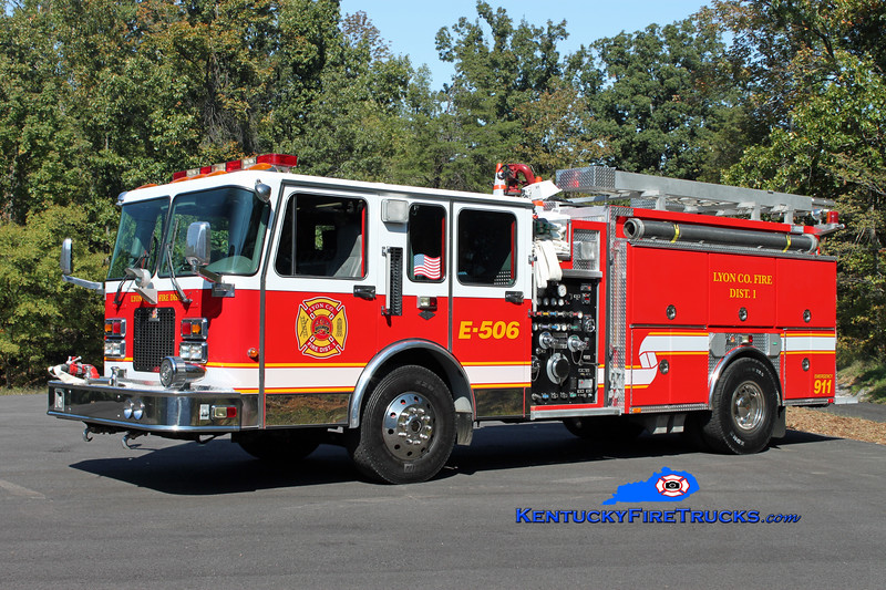 <center> Lyon County Fire District 1  Engine 506 <br> 1995 Spartan Advantage/Ferrara 1250/1000 <br> Kent Parrish photo </center>