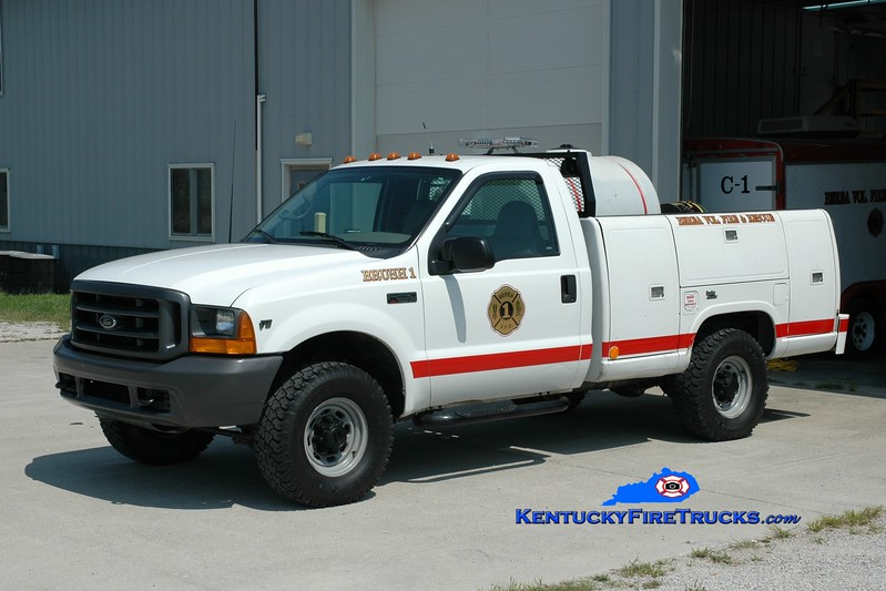 <center> Berea Vol Fire & Rescue Squad  Brush 1 <br> 2000 Ford F-250 4x4/Reading 250/250 <br> Greg Stapleton photo </center>
