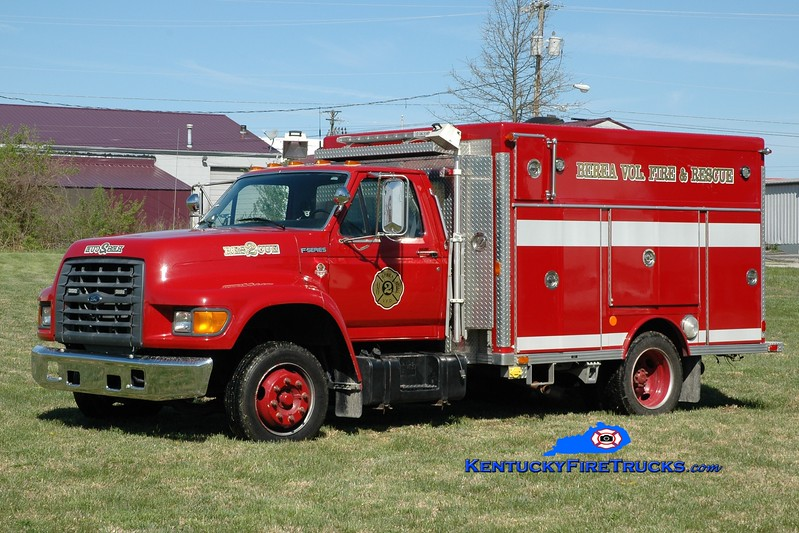 <center> Berea Vol Fire & Rescue Squad  Rescue 2 <br> 1997 Ford F/AWSI/2014 NEFA <br> Greg Stapleton photo </center>