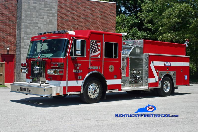 <center> City of Berea  Engine 5 <br> 2009 Sutphen Shield 1500/1000 <br> Kent Parrish photo </center>