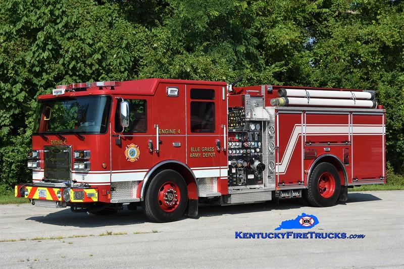 Bluegrass Army Depot  Engine 4<br /> 2021 Pierce Saber 1500/750/25<br /> Greg Stapleton photo