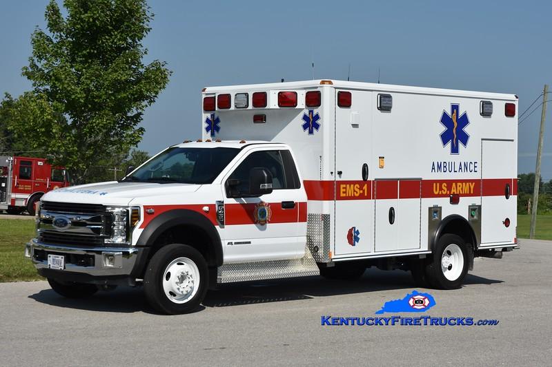 Bluegrass Army Depot EMS 1<br /> 2015 Ford F-450 4x4/Wheeled Coach<br /> Greg Stapleton photo
