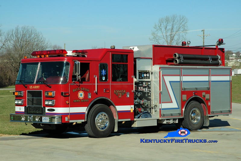 Bluegrass Army Depot  Engine 2<br /> x-Radford Army Ammunition Plant, VA <br /> 2003 Pierce Saber 1500/750/50<br /> Greg Stapleton photo