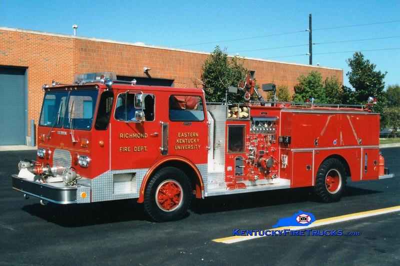 <center> RETIRED <br> Eastern Kentucky University/Richmond  Engine 3 <br> 1981 Duplex/Grumman-Howe 1250/500 <br> Greg Stapleton photo </center>