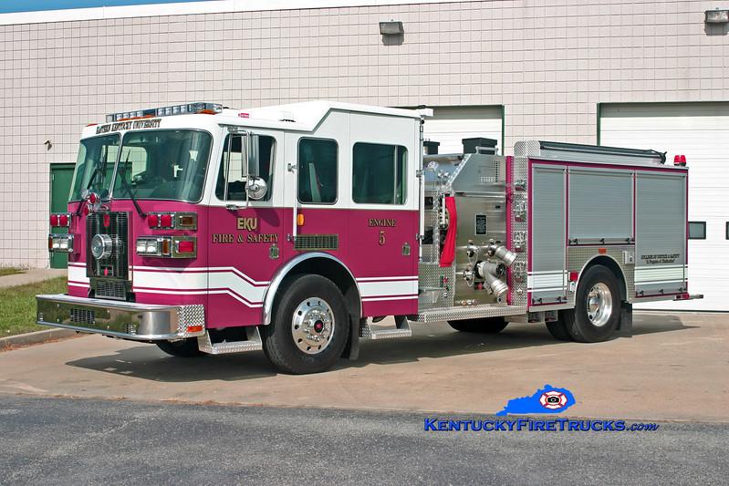 <center> Eastern Kentucky University  Engine 5 <br> 2009 Sutphen Shield 1500/500/30 <br> Kent Parrish photo </center>