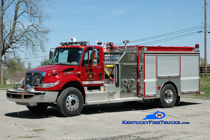 <center> Kirksville  Engine 10 <br> 2012 International 4400/Sutphen 1250/1000/20 <br> Greg Stapleton photo </center>