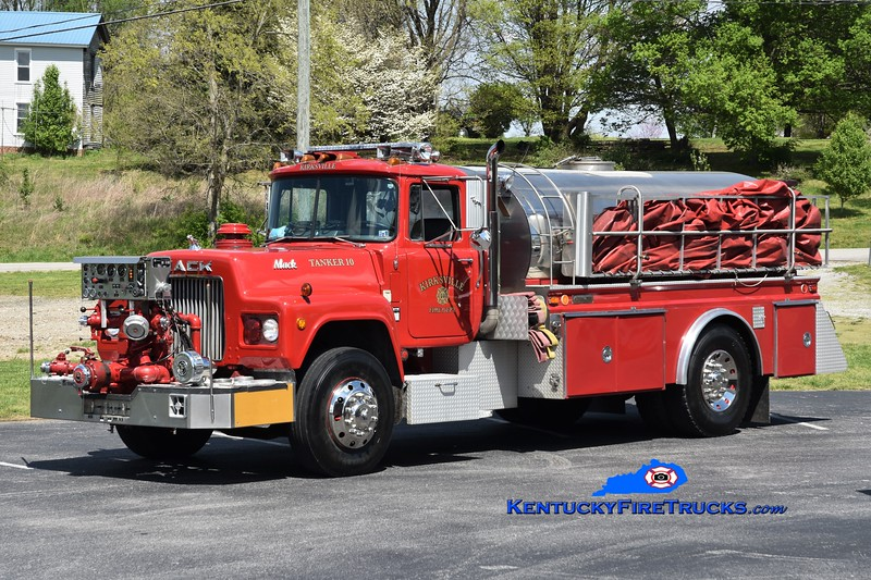 Kirksville  Tanker 10<br /> x-Goldsboro, PA<br /> 1986 Mack R/4 Guys 1000-2000<br /> Greg Stapleton photo