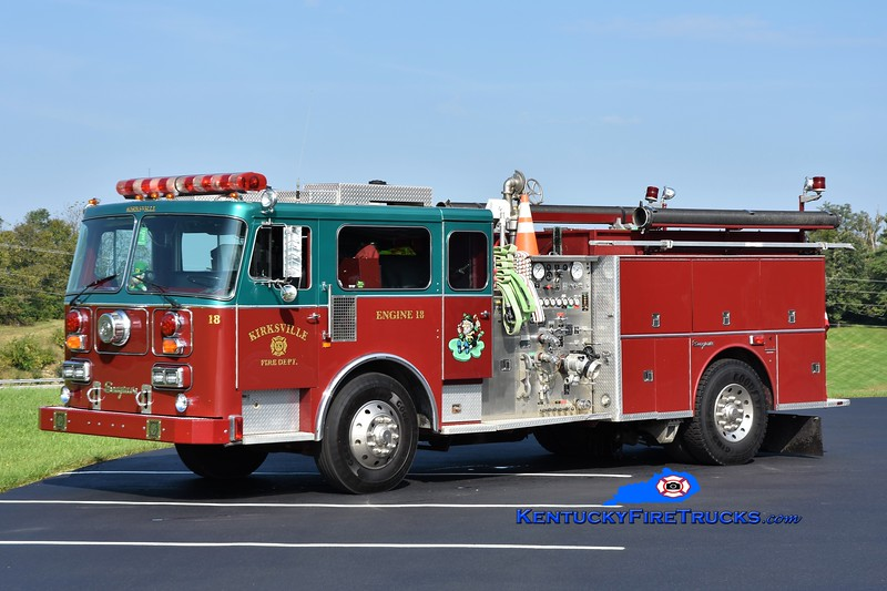 Kirksville  Engine 18<br /> x-Minersville, PA<br /> 1987/2004 Seagrave HB 1500/750<br /> Greg Stapleton photo