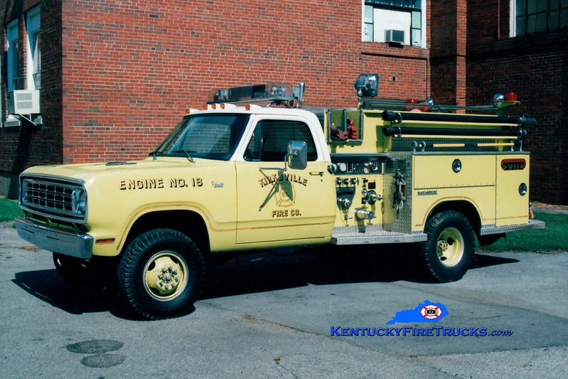 <center> RETIRED <br> Kirksville  Engine 18 <br> x-Blauvelt, NY <br> 1976 Dodge 4x4/Saulsbury 350/250 <br> Greg Stapleton photo </center>