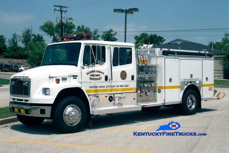 <center> Madison County  Engine 1 <br> 2002 Freightliner FL80/E-One 1250/1000 <br> Greg Stapleton photo </center>