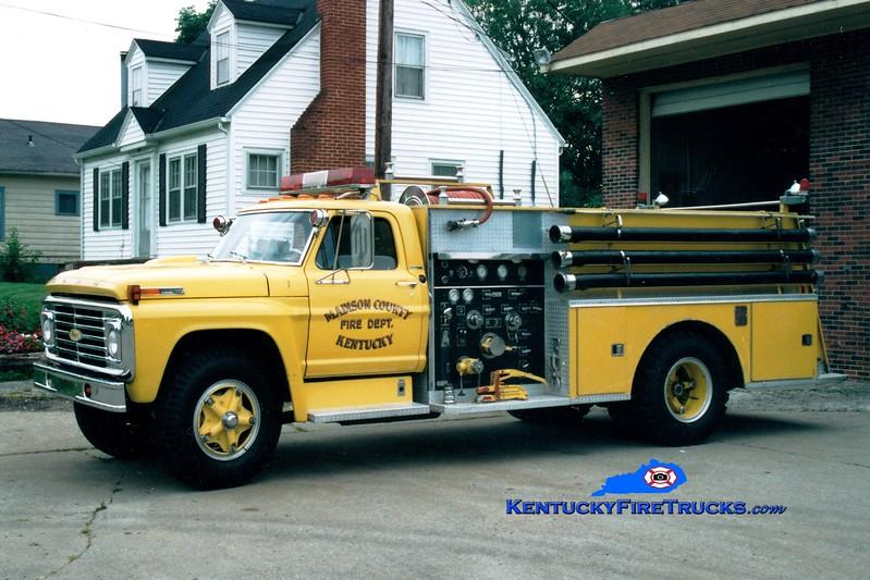 <center> RETIRED <br> Madison County  Engine 1 <br> 1972 Ford F/Pierce 750/750 <br> Greg Stapleton photo </center>