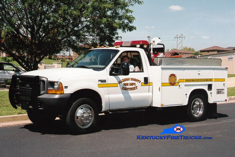 <center> Madison County  Brush 1 <br> 1998 Ford F-450 4x4/Knapheide 250/250 <br> Greg Stapleton photo </center>