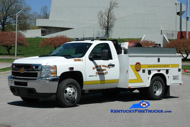 <center> Madison County  Brush 1 <br> *Rechassis <br> 2013 Chevy 3500 4x4/Knapheide/Wynn 250/250 <br> Greg Stapleton photo </center>