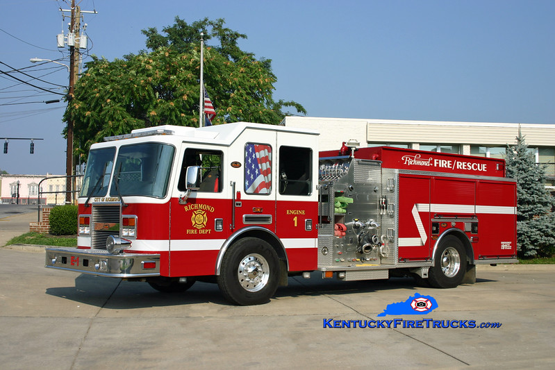 <center> Richmond  Reserve Engine <br> 2005 KME Predator 1500/1000 <br> Kent Parrish photo </center>