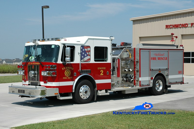 <center> Richmond  Engine 2 <br> 2008 Sutphen Shield 1500/750 <br> Greg Stapleton photo </center>