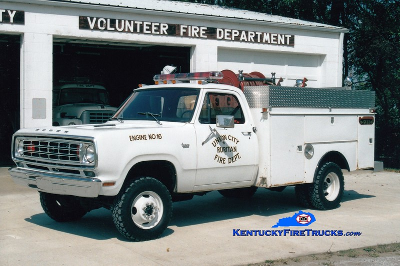 <center> Union City Ruritan  Engine 16 <br> 1976 Dodge 4x4/R&S 250/250 <br> Greg Stapleton photo </center>