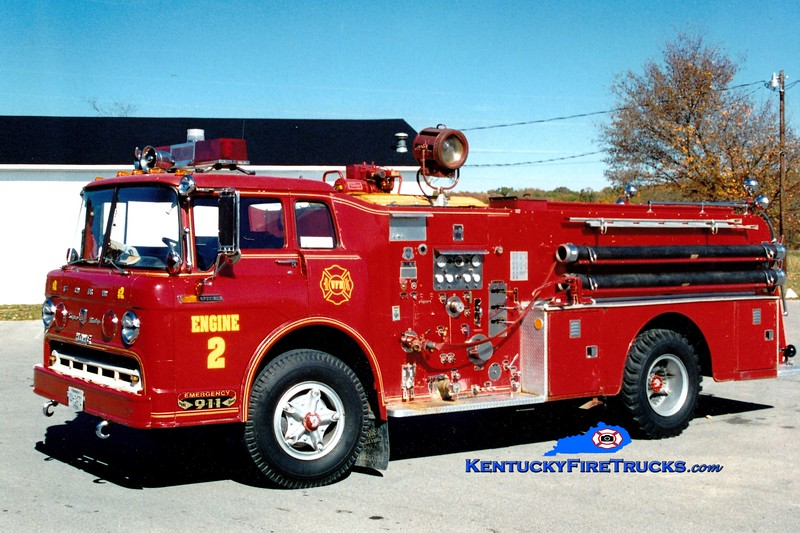 <center> NO LONGER IN SERVICE <br> x-Mad River Twp, OH <br> Waco Engine 2 <br> 1968 Ford C/Howe 1000/1000  <br> Greg Stapleton photo </center>