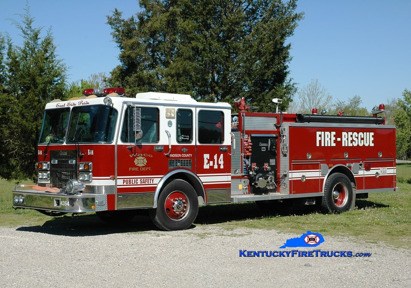 <center> Waco Engine 15 <br> x-Engine 14 <br> x-North Myrtle Beach, SC <br> 1992 Spartan/Central States 1500/1000 <br> Greg Stapleton photo </center>