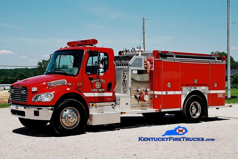 <center> NO LONGER IN SERVICE <br> Waco Engine 8 <br> 2004 Freightliner M2/E-One 1250/1000  <br> Greg Stapleton photo </center>