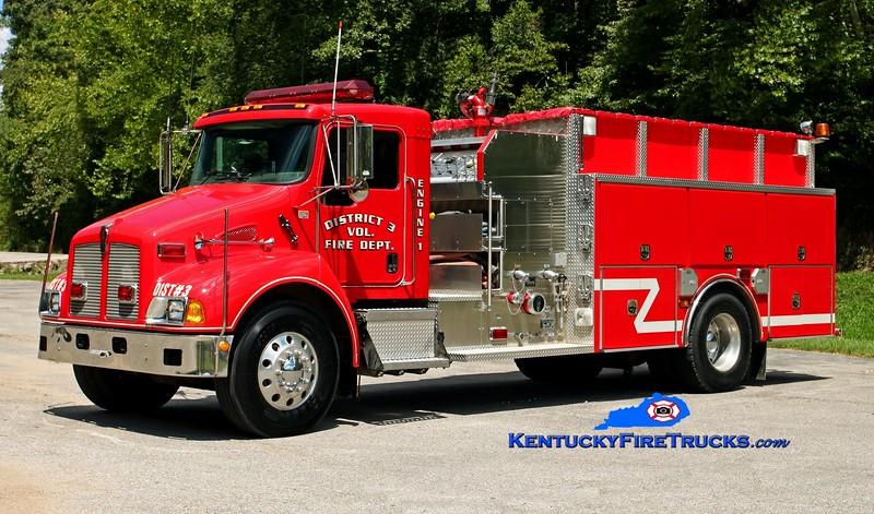 <center> District 3  Engine 1  <br> 2003 Kenworth T-300/4 Guys 1250/1250 <br> Kent Parrish photo </center>