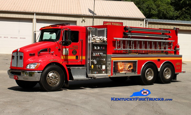<center> North Magoffin  Engine 1  <br> 2010 Kenworth T-300/Wynn 750/3000 <br> Kent Parrish photo </center>