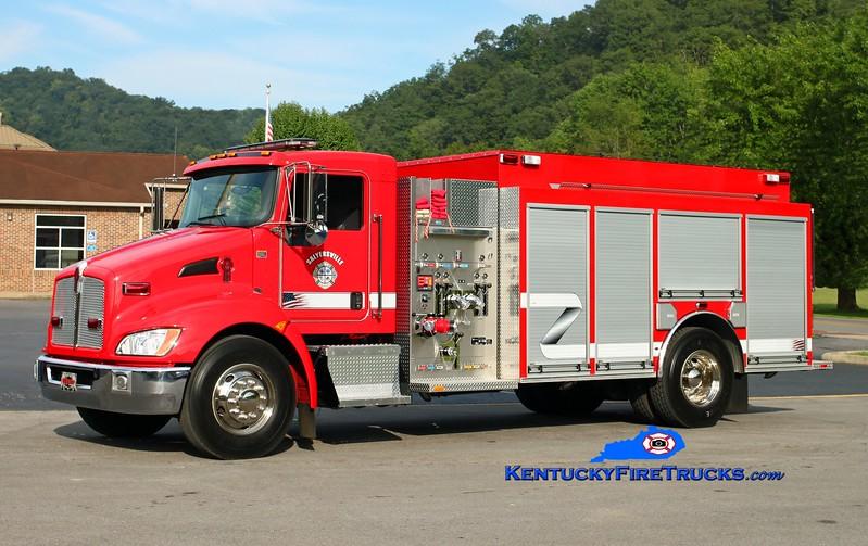 <center> Salyersville  Engine 1  <br> 2010 Kenworth T-300/Wynn 1500/1000 <br> Kent Parrish photo </center>