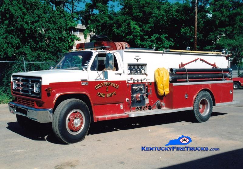 <center> RETIRED <br> Salyersville  Engine 1  <br> 1979 GMC/Allegheny 750/1000 <br> Greg Stapleton photo </center>
