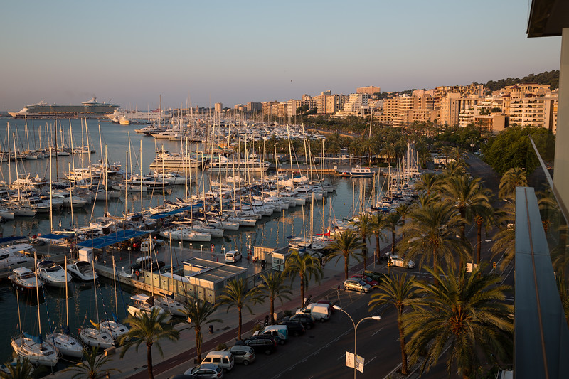 A view from Hotel Costa Azul, Palma de Mallorca, Mallorca, Spain