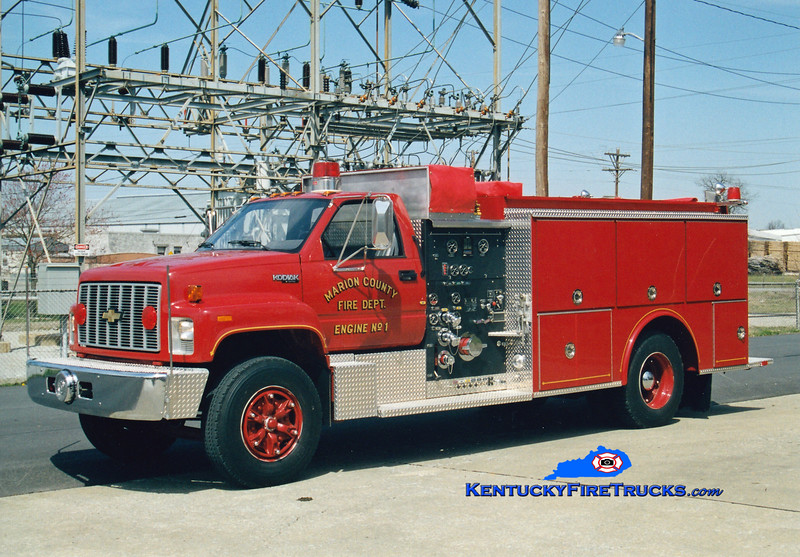 <center> RETIRED <br> Lebanon/Marion County  Engine 1 <br> 1992 Chevy Kodiak/Grumman 1000/1000 <br> Greg Stapleton photo </center>