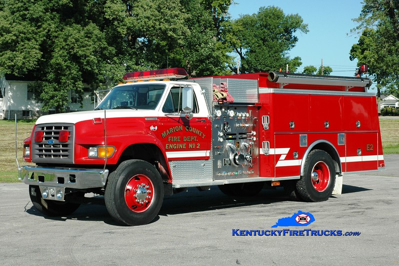 <center> Lebanon/Marion County  Engine 2 <br> 1997 Ford F-800/KME 1250/1000 <br> Greg Stapleton photo </center>