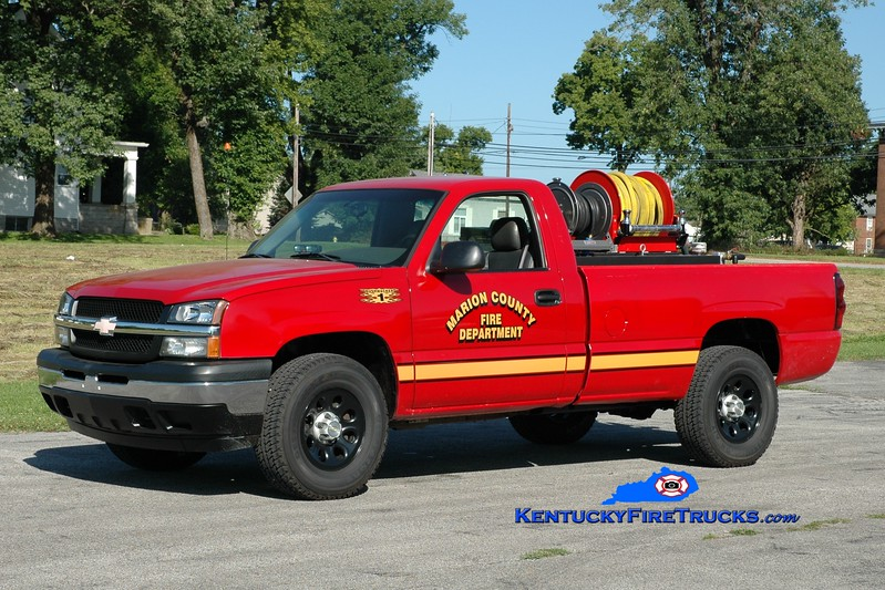 "<center> Lebanon/Marion County  ""Bushwacker 1"" <br> 2005 Chevy 1500 4x4/FD 250/250 <br> Greg Stapleton photo </center>"