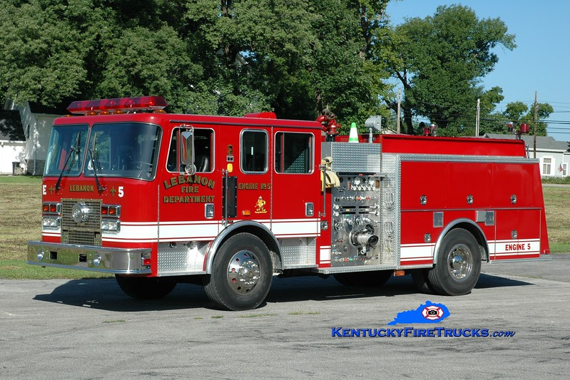 <center> Lebanon, KY  Engine 5 <br> 1996 KME Renegade 1250/750 <br> Greg Stapleton photo </center>